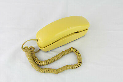 Vintage Western Electric Trimline Yellow Push Button Desk Bell System Telephone