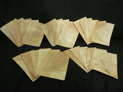 25 Harry Potter Book Pages (coffee/tea dyed) - Junk Journal, Mixed Media - L404