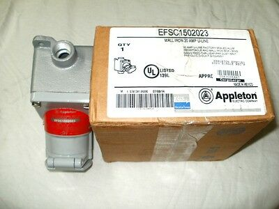 Appleton EFSC1502023 Single Receptacle Assembly Explosion-Proof 20A 125VAC