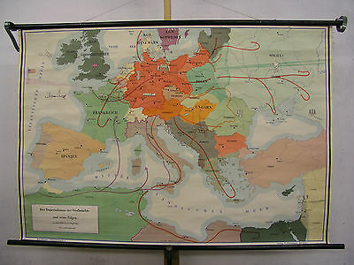 Schulwandkarte Role Map Wall Map School Map Greater Germany War 138x95 Map