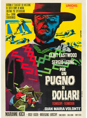 For a Few Dollars More Clint Eastwood Movie HD Print Poster Wall Decor Multisize