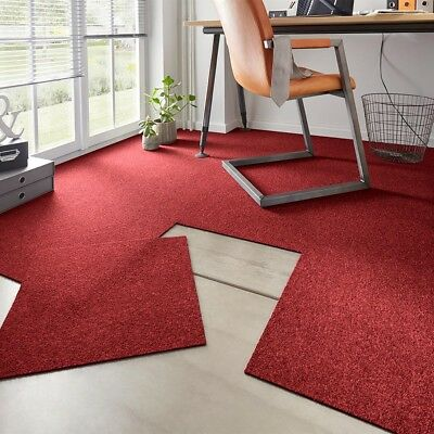 Tappeto Erica Easy Rosso 50x50 cm 20 Set Selbstliegend