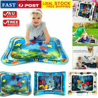 Baby Water Play Mat Inflatable For Infants Toddlers Fun Tummy Time Sea World BF