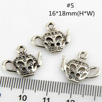 Free Ship 100Pcs Teapot #5 Antique Silver Charms Wine Pot Flask For DIY Making