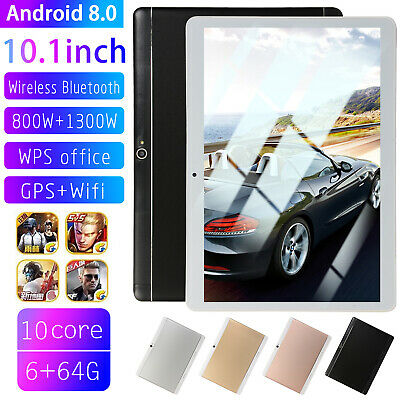 "10.1"" Inch 6GB+64GB HD Tablet PC Android 8.0 Ten Core Wifi Bluetooth 4.0 UK PLUG"