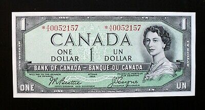 1954 BANK OF CANADA $1 **Beattie & Coyne** Replacement *A/A 0052157 BC-37aA