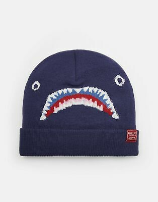 Joules Boys Chummy Character Hat in NAVY SHARK