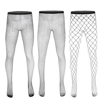 Sexy Men's Fishnet Tights Nylon  Mesh Stockings Hollow Out Pantyhose Underwear