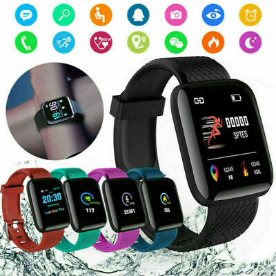 Fitness Tracker 116 PLUS Smart Watch Heart Rate Blood Pressure For Mobile Phone