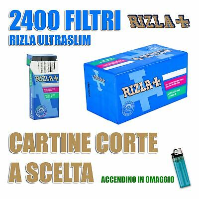 2400 filtri Rizla ultra slim da 5,7 mm + CARTINE A SCELTA