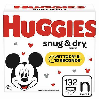 222 Count * HOT * HUGGIES Snug /& Dry Diapers Packaging May Vary Size 3
