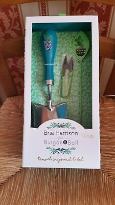 Brie Harrison Trowel Snips and Label New and Boxed