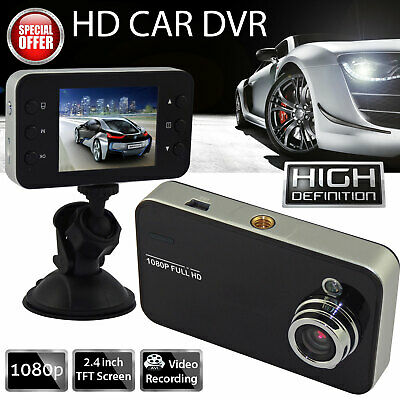 """2.4""""1080P Dual Lens Car DVR Dash Cam Video Recorder Front and Rear Camera LCD"""