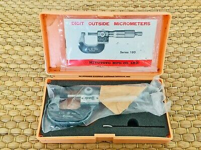 "New Mitutoyo 193-211 Digit Outside Micrometer M825 O-1"" Japan Boxed"