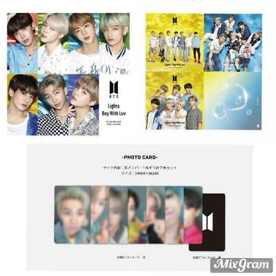 BTS JAPAN Official Boy With Luv / Lights Set 5CD + 7 photocards  FC FunClub