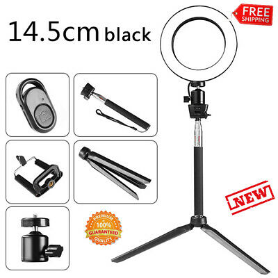 LED Ring Light with Stand Tripod Kit Dimmable Lamp 5500K for Makeup Phone Camera