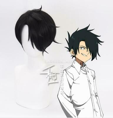 The Promised Neverland Ray Short Black Straight Hair Mens Cosplay