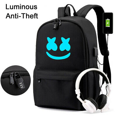 Anti-Theft Unisex Marshmallow School Backpack Book Bags Laptop Travel Rucksack