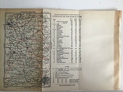 Peak District 1903 Original Antique County Map Bartholomew, Cycling Routes