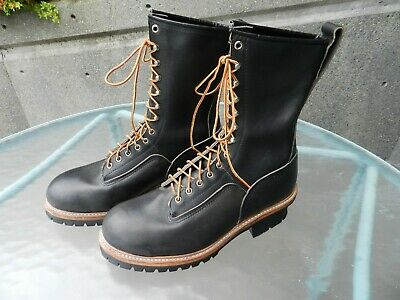 96412796c0c NEW! AUTHENTIC RED WING 2218 Steel Toe Logger Leather Boots Made USA,  11-1/2 D
