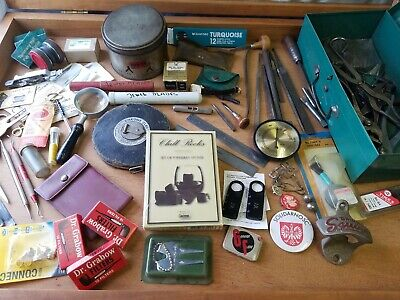 Vintage Junk Drawer Lot Estate Finds, tools, Collectibles and more!