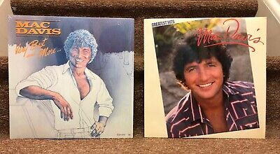 Lot of 2 Mac Davis LPs Greatest Hits, Very Best and More