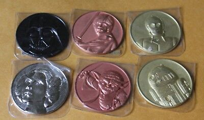 2005 California Lottery Star Wars Commemorative Promo Coin-Set/6 FREE SHIPPING
