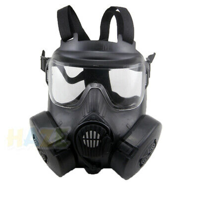 Airsoft M50 Gasmaske Vollgesichts-Doppelfilterlüfter CS Field Dust Face Guard