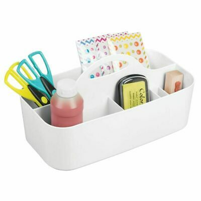 mDesign Plastic Storage Caddy Tote for Sewing & Craft Supplies, Large