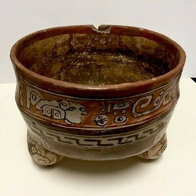 Pre-Columbian Mayan Pottery or Ceramic Bowl