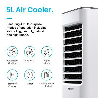 Pro Breeze® 5L Portable Air Cooler 4 Mode 3 Speed Evaporator Water Cooling Fan