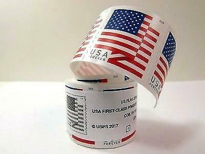 USPS US Flag Forever Stamps. 100 Count Coil. $55 Value. *FREE SHIPPING