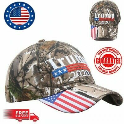 Trump 2020 MAGA Camo Embroidered Hat Keep Make America Great Again Cap US 2019