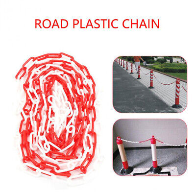 6mm Plastic Barrier Chain Link Visible Barrier Warning Safety Fence Line 5/10M