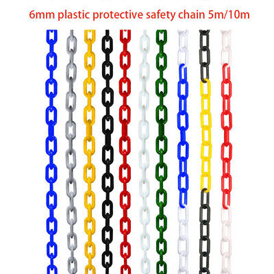 6mm Plastic Barrier Chain Link 4 Colors Safety Decorative Road Warning 5/10m