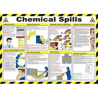 SAFETY FIRST AID Chemical Spills Poster - 59cm x 42cm A608T