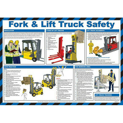 SAFETY FIRST AID Fork Lift Truck Safety Guidance Poster - 59cm x 42cm A620T