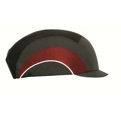 JSP Hardcap A1+ with Micro Peak (3cm) - Grey & Red ABT000-00L-500