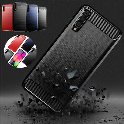 For Samsung Galaxy A70 A50 A60 A20E Shockproof Rubber Rugged Soft TPU Case Cover