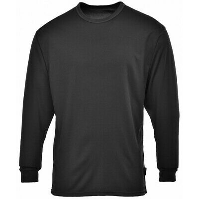 PORTWEST Thermal Base Layer Top - Black - Small B133BKRS