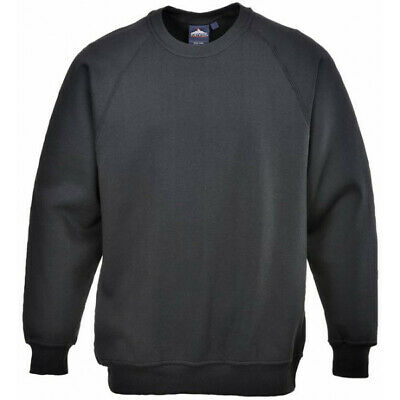 PORTWEST Polycotton Sweatshirt - Black - Medium B300BKRM