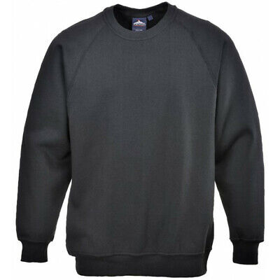 PORTWEST Polycotton Sweatshirt - Black - Large B300BKRL