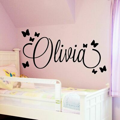Wall Art Decal Baby Personalized Custom Large Name Kid Bed Room Decoration Mural