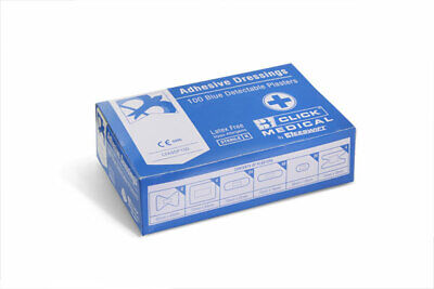 CLICK MEDICAL PLASTERS BLUE (Pack of 100)