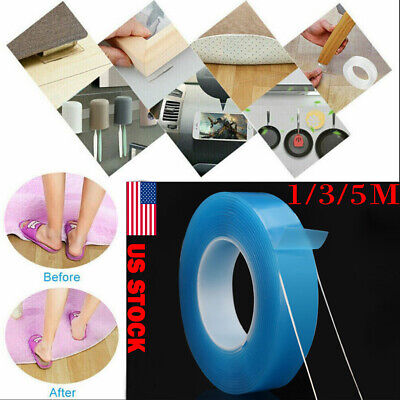 Magic Double-sided Grip Tape Traceless Washable Adhesive Nano Invisible Tape US
