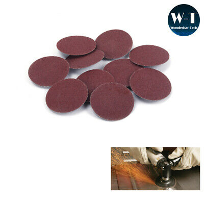 25/50 PCS Roll Lock Sanding Disc Surface Sandpaper Abrasive Pads For Rotary Tool