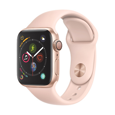 Apple Watch Series 4 GPS 40mm Aluminiumgehäuse Gold mit Sportarmband Sandrosa