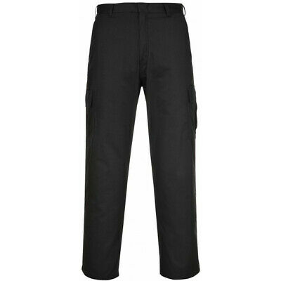 PORTWEST Combat Trousers - Black - 46in. Waist (Regular) C701BKR46
