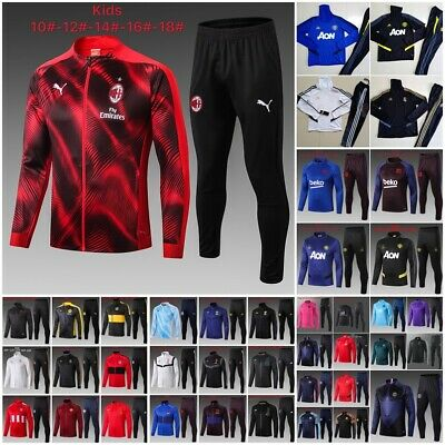 1920 Kids Football League Training Suit Jersey Long Sleeve Bottoms Set Tracksuit