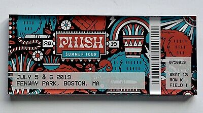 Phish boston magnet fenway park ticket 2019 concert tour new